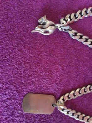 Dva stříbrné řetězy