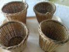 4 pletené košíčky pro dekoraci
