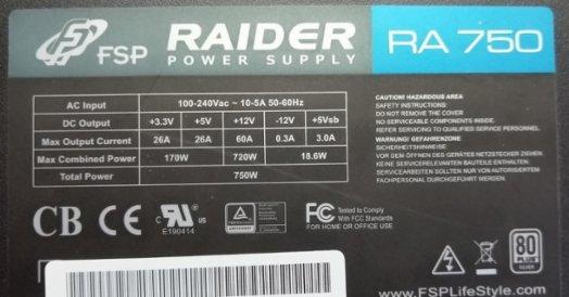 Fortron Raider 750 W